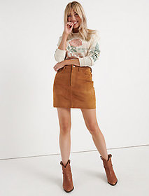 Lucky Brand Suede Mini Skirt