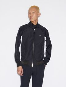 Armani DOUBLE FACE BLOUSON WITH CONTRASTING DETAIL