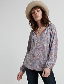Lucky Brand Floral Print Peasant