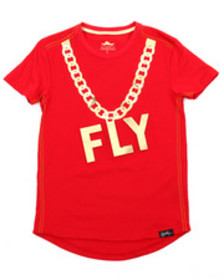 Fly Society gold embossed mirror print tee (8-20)