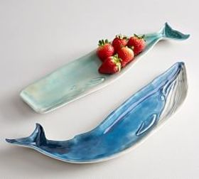 Pottery Barn Whale Melamine Serving Platter