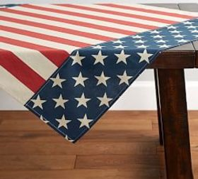 Pottery Barn American Flag Table Throw