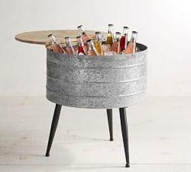 Pottery Barn Galvanized Stand-Up Cooler