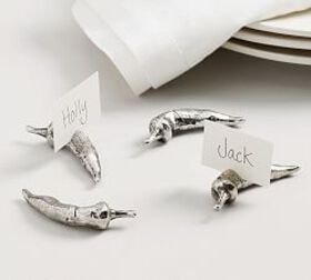 Pottery Barn Chili Pepper Place Card Holders, Set