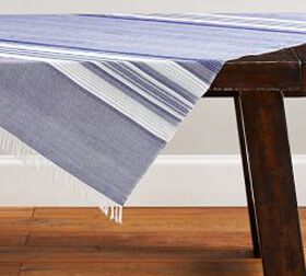 Pottery Barn Bright Chambray Handwoven Table Throw