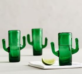Pottery Barn Cactus Shot Glass