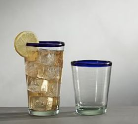 Pottery Barn On the Rocks Acrylic Glasses