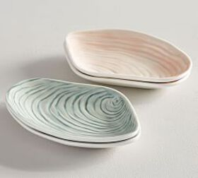 Pottery Barn Figural Shell Appetizer Plates