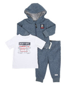 DKNY Jeans dkny nyc 3 piece jacket set (12-24mo)