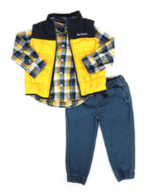Ben Sherman 3 piece vest set (2t-4t)