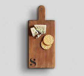 Pottery Barn Alphabet Wood Cheese Board