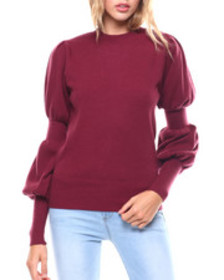 Fashion Lab gathered sleeve sweater