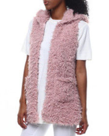 Fashion Lab faux fur hooded vest