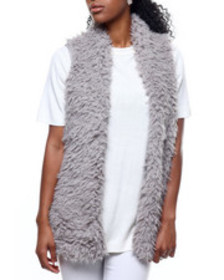 Fashion Lab hook & eye exposure faux fur vest