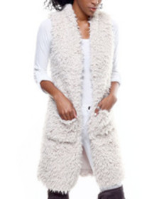 Fashion Lab long faux fur vest