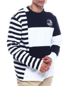 New York Robbery cut and sew stripe tee