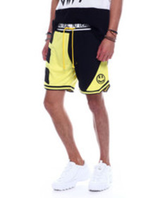 BWOOD colorblock happy face basketball short