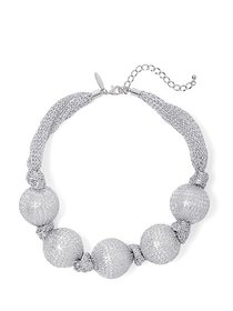 Faux-Pearl Mesh Collar Necklace - New York & Compa