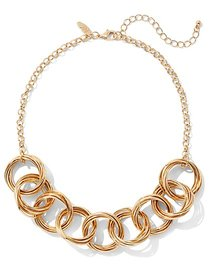 Round Link Statement Necklace - New York & Company