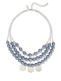 3-Row Beaded Statement Necklace - New York & Compa