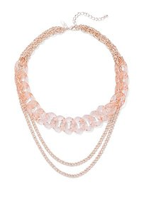 3-Row Link Necklace - New York & Company