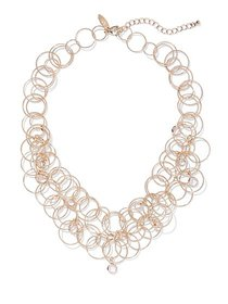Sparkling Goldtone Circle Necklace - New York & Co