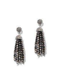 Gunmetal Faceted Bead Drop Earring - New York & Co