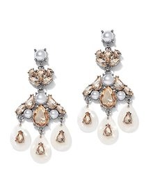 Goldtone Faux-Pearl Drop Earring - New York & Comp