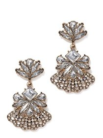 Sparkling Goldtone Drop Earring - New York & Compa