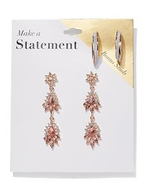 2-Piece Post & Statement Drop Earring Set - New Yo