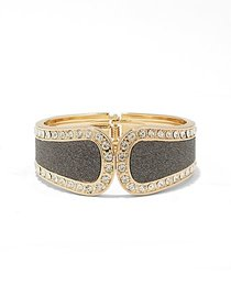 Sparkling Faux-Stone Cuff Bracelet - New York & Co