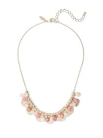 Goldtone Beaded Statement Necklace - New York & Co