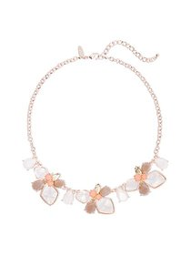 Rose Goldtone Floral Statement Necklace - New York