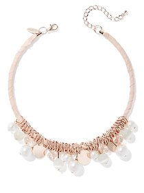 Goldtone Faux-Pearl Collar Necklace - New York & C
