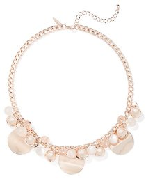 Goldtone Faux-Stone Collar Necklace - New York & C