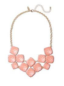 Faceted Faux-Stone Statement Necklace - New York &