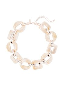 Rose Goldtone Link Necklace - New York & Company