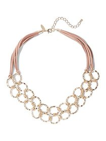 2-Row Goldtone Open-Link Necklace - New York & Com