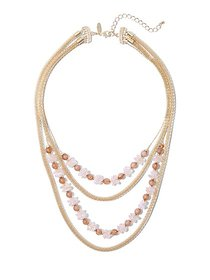 4-Row Goldtone Beaded Necklace - New York & Compan