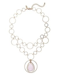 Pink Faux-Stone Pendant Necklace - New York & Comp