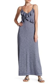 Max Studio Ruffled Maxi Dress