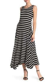 Max Studio Striped A-Line Maxi Dress