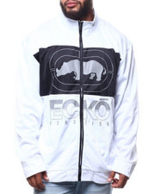Ecko brushed poly tricot nailed it track jacket (b