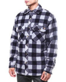 Dickies relaxed fit micro fleece quilted shirt jac