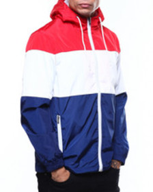 Buyers Picks colorblock zip up windbreaker