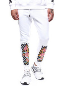 Buyers Picks floral bar code jogger
