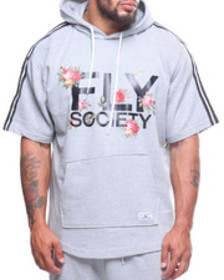 Fly Society s/s french terry hood taping (b&t)