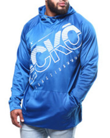 Ecko brush poly tricot cut through po hoodie (b&t)