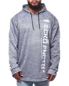 Ecko brushed poly tricot fly ny ls knit hood (b&t)
