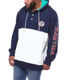 Nautica popover embroidered french terry hoodie (b